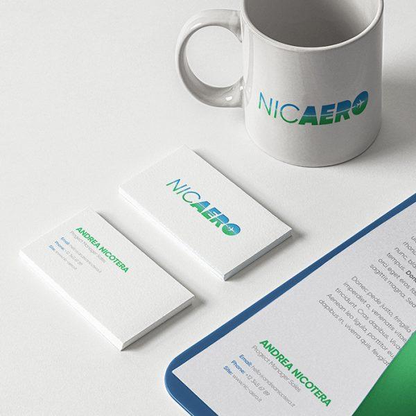 Nic Aero di Andrea Nicotera - Logo - Mockup vari